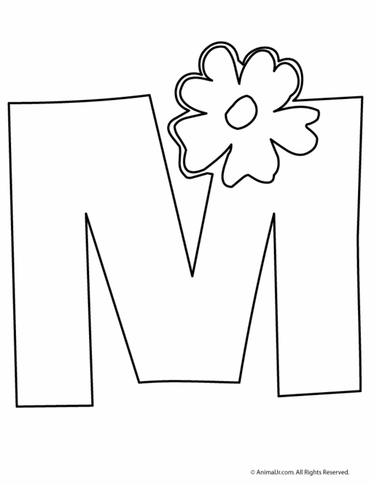 m coloring page - coloring pages that say j sketch templates