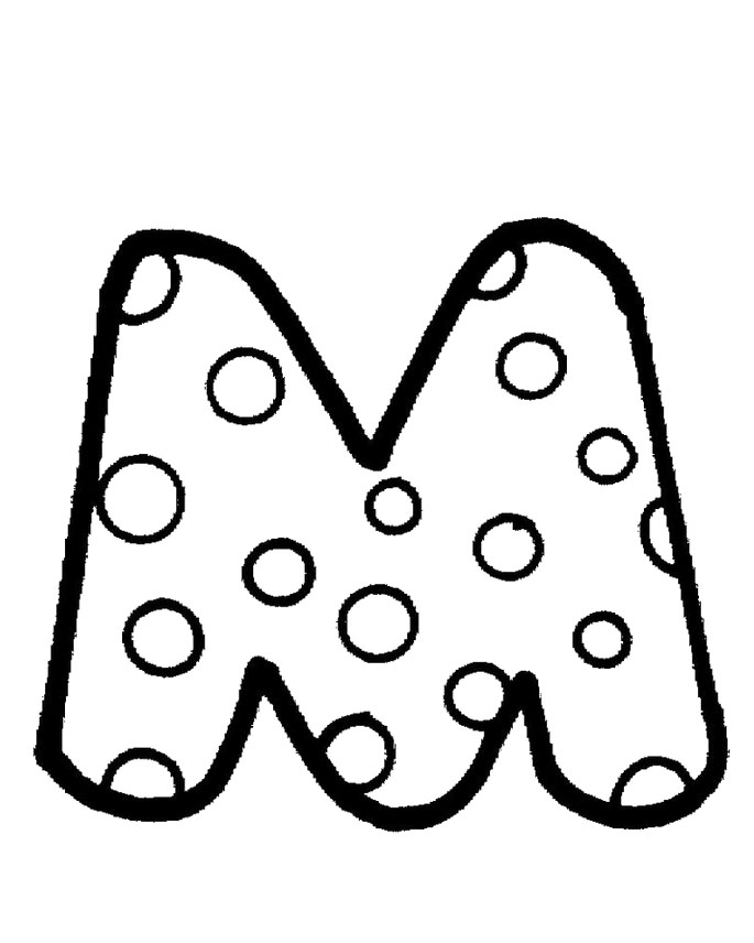 m coloring page - m and m coloring pages