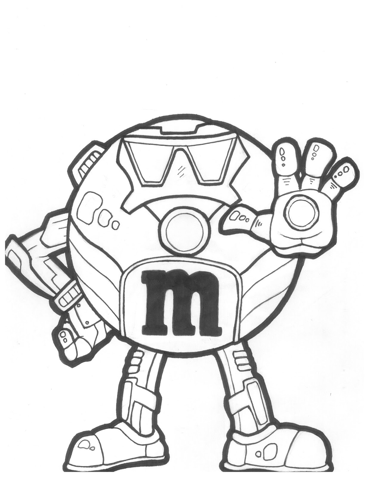m coloring page - m m coloring pages