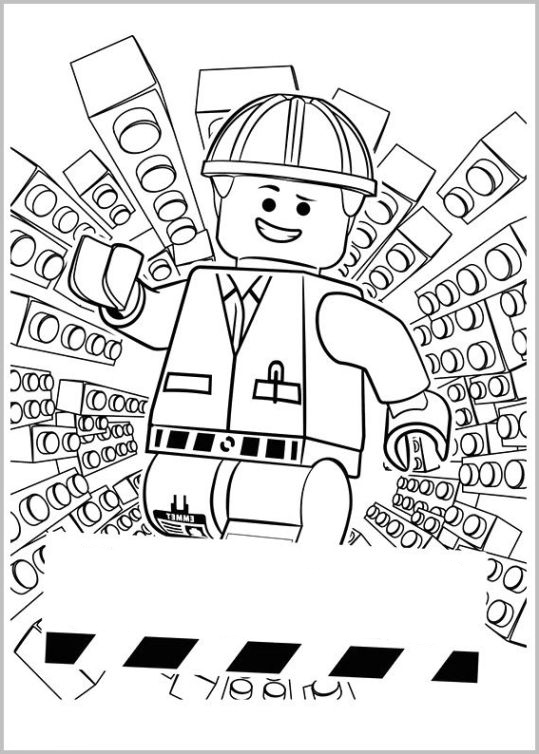 madagascar coloring pages - the lego movie 1