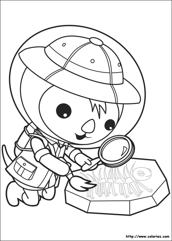 madagascar coloring pages - octonaut chercheur de fossils