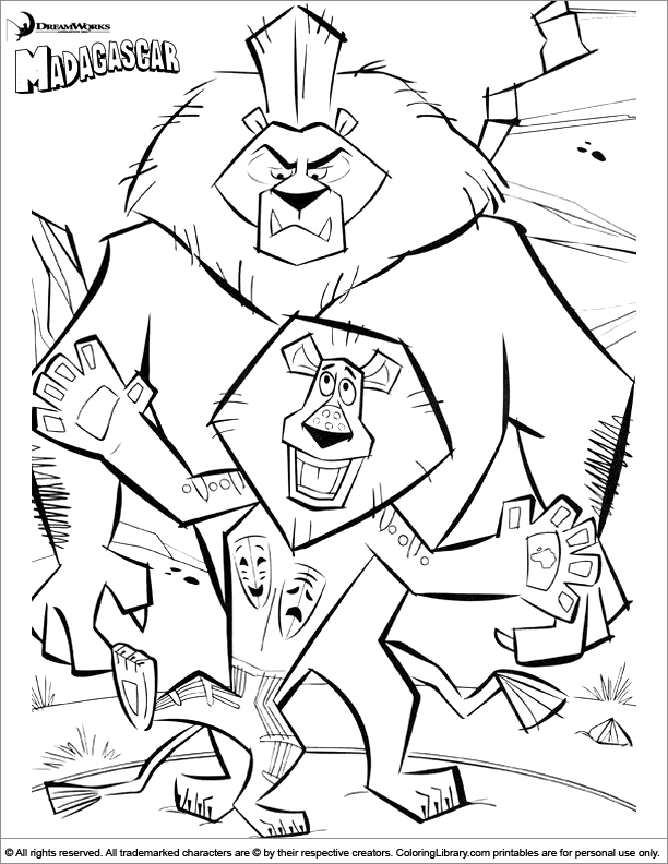 Madagascar Coloring Pages - Madagascar Coloring Picture