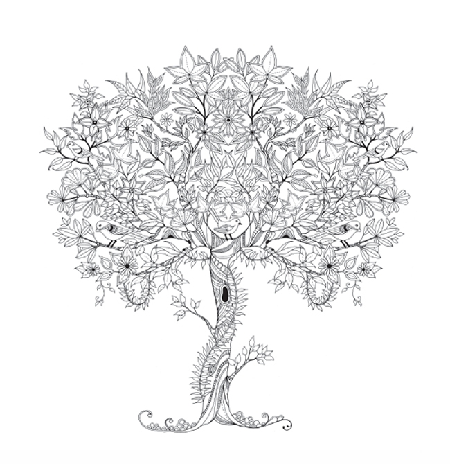 magical jungle coloring pages - wholesale series fashion cafe coloring books printing for adult