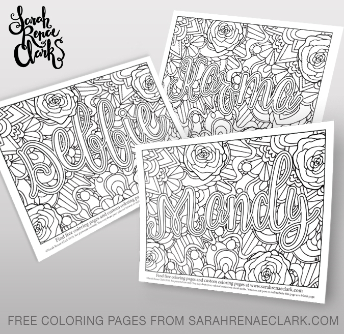 make a coloring page - freebie friday jul make a photo gallery name coloring pages