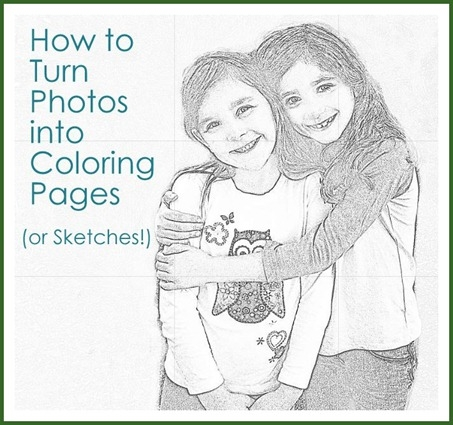 make coloring pages from photos - from photos to coloring pages or sketches