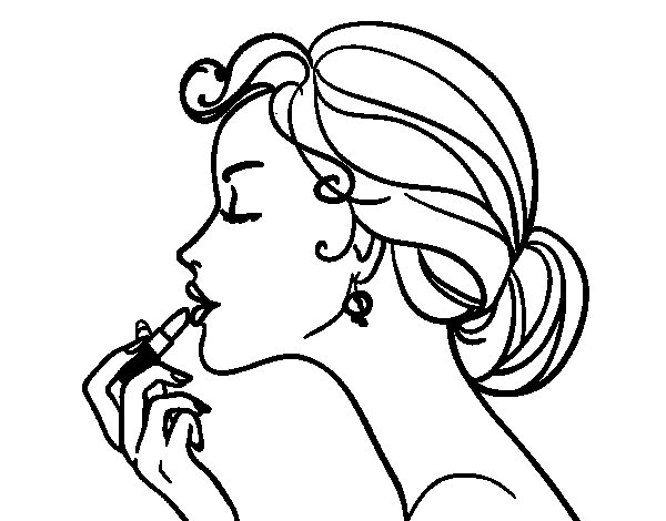 make coloring pages from photos - make up the lips