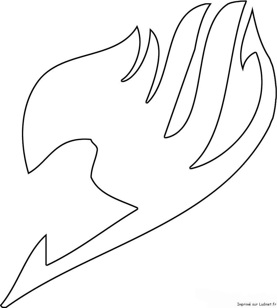 make your own coloring pages for free - post fairy tail logo coloring pages