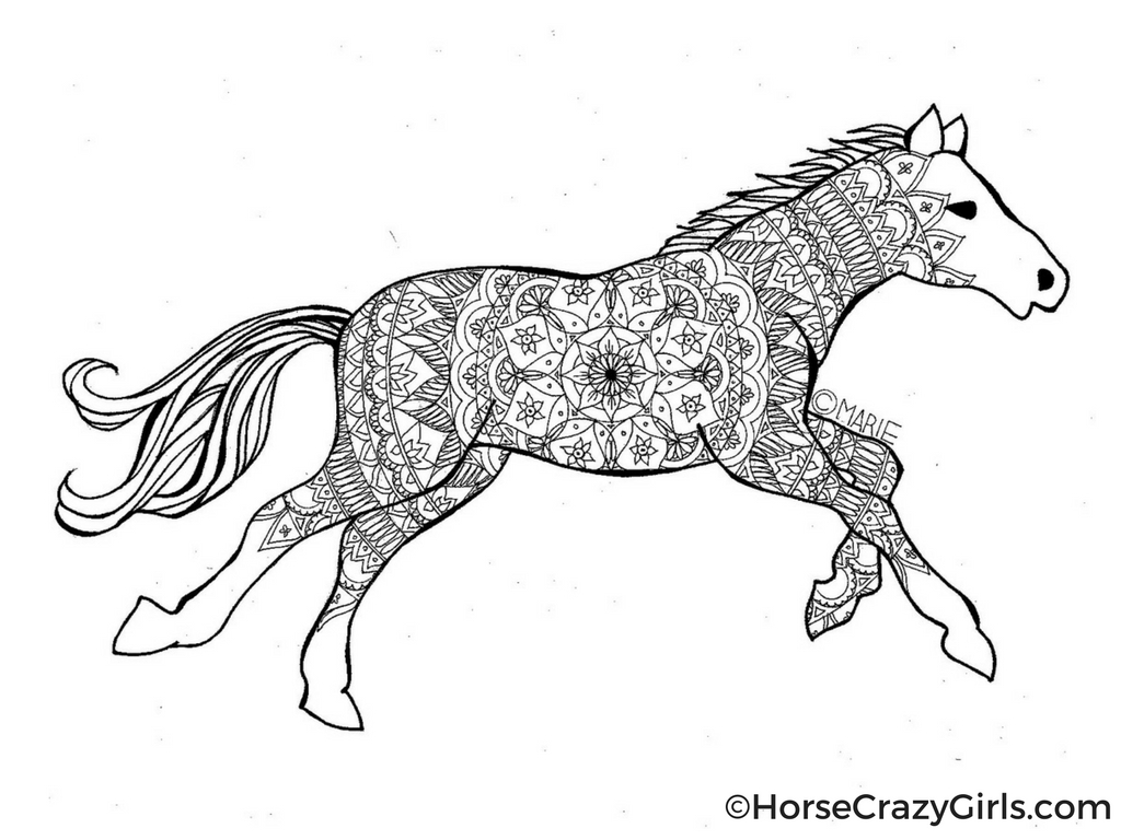 make your own coloring pages for free - horse coloring pages