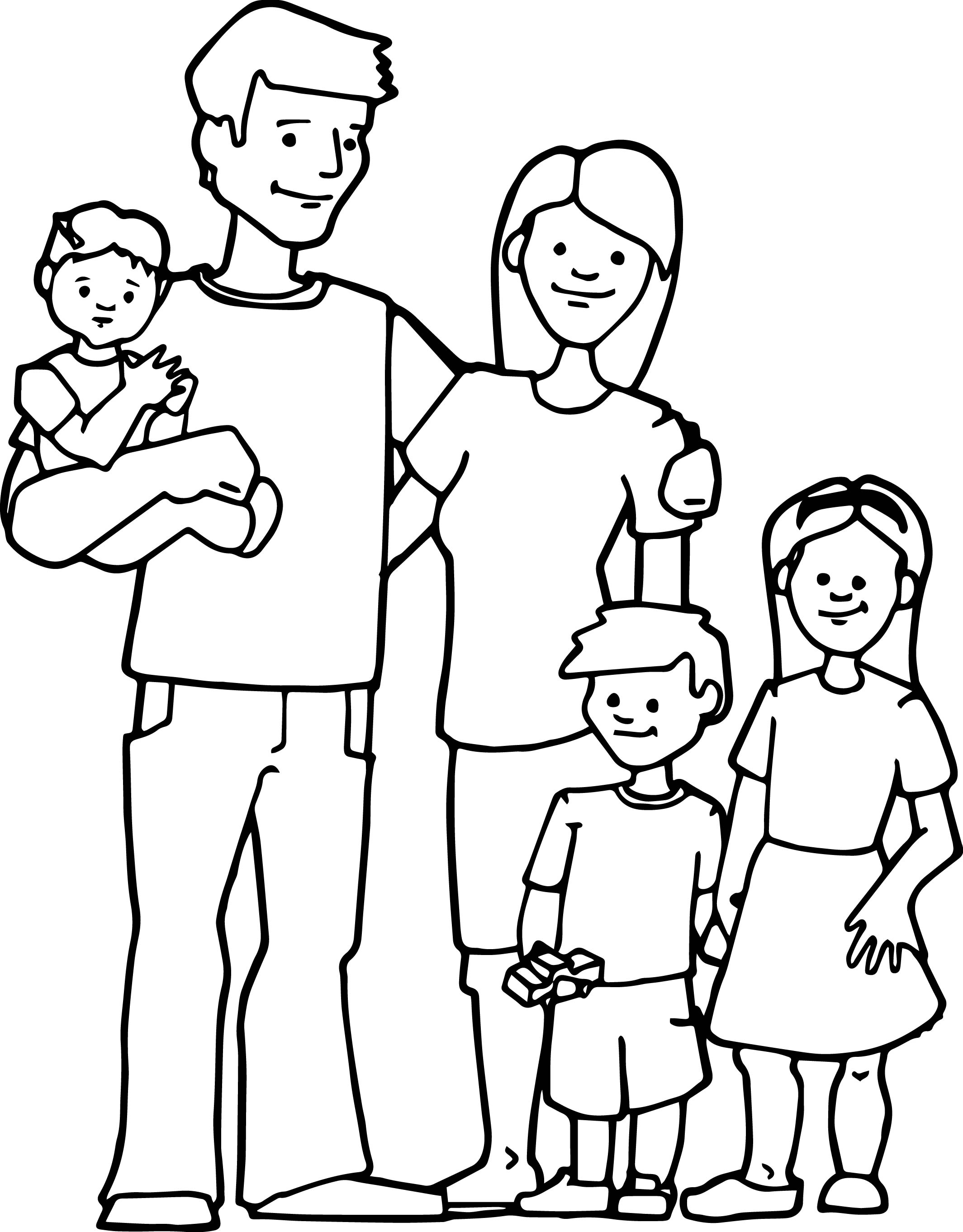 Make Your Own Coloring Pages From Photos - Family Kids Coloring Page