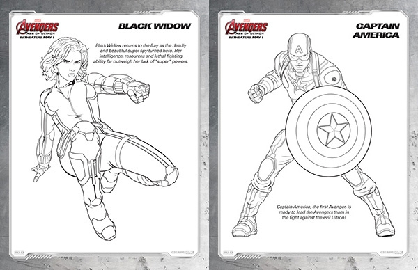 make your own coloring pages from photos - free kids printables marvel the avengers age of ultron coloring pages