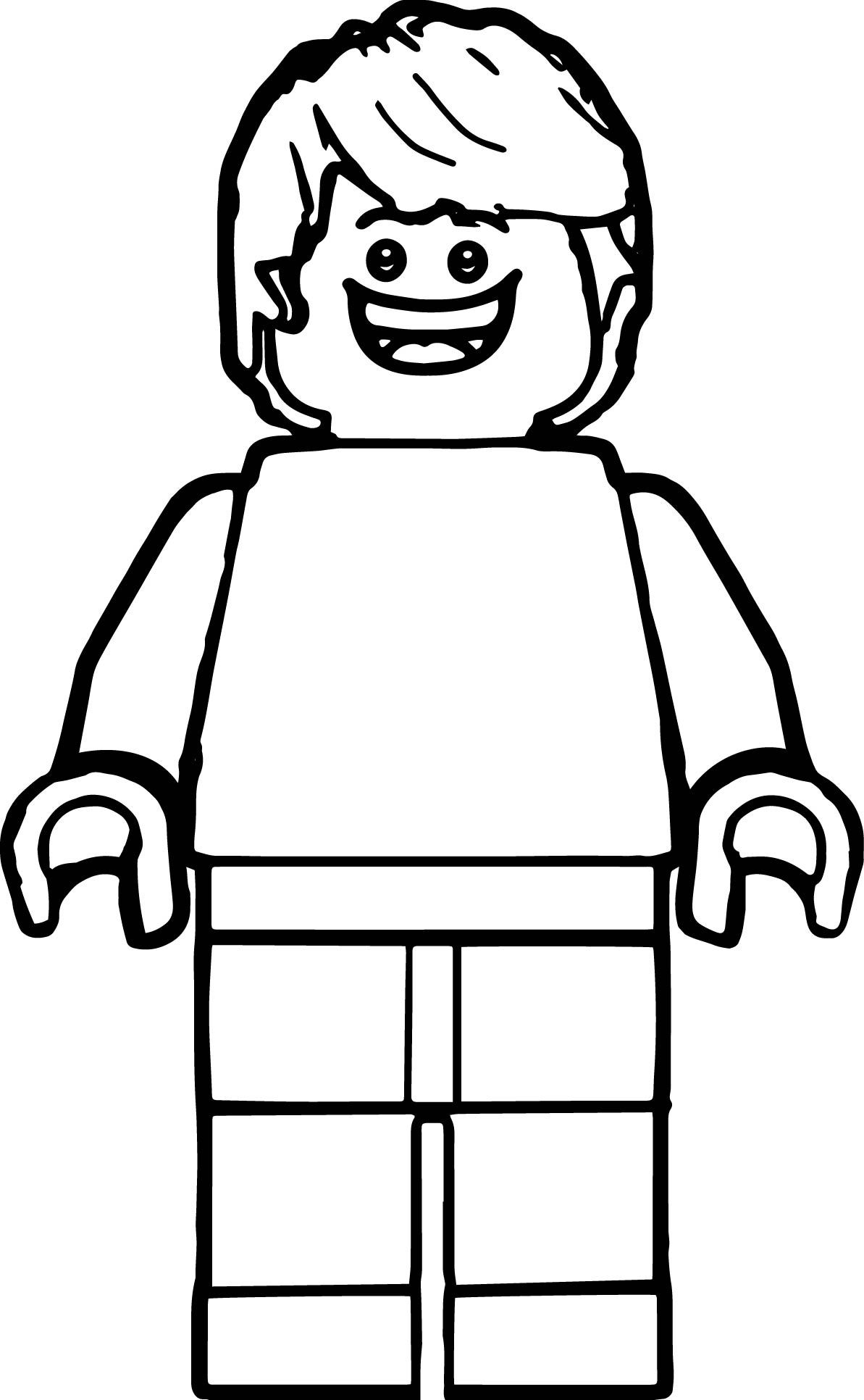 make your own coloring pages from photos - lego man coloring page