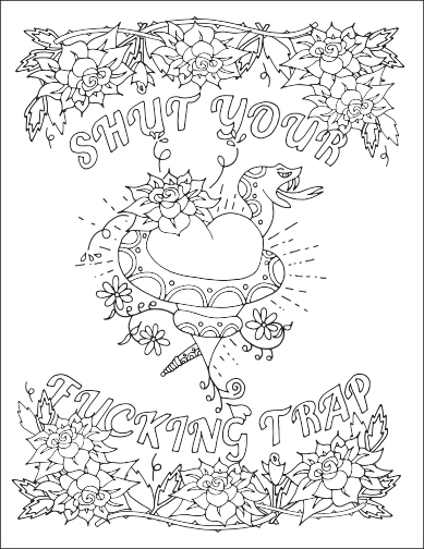 make your own coloring pages with words - swear word adult coloring pages