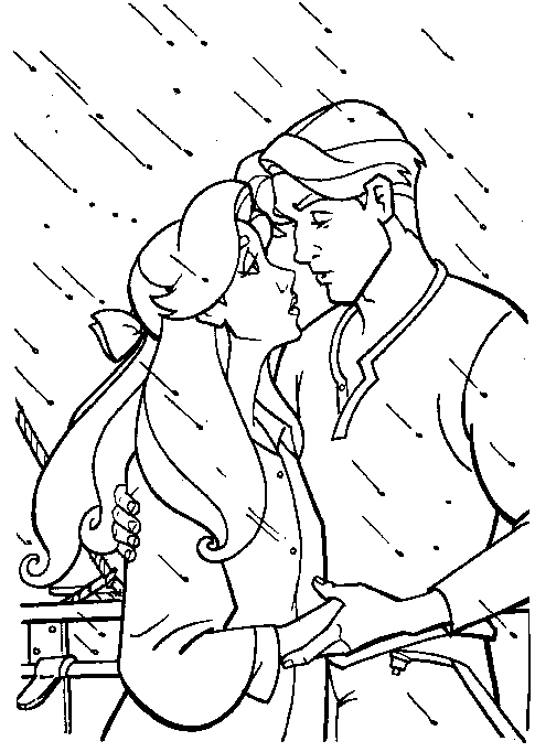 mal coloring pages - anastasia