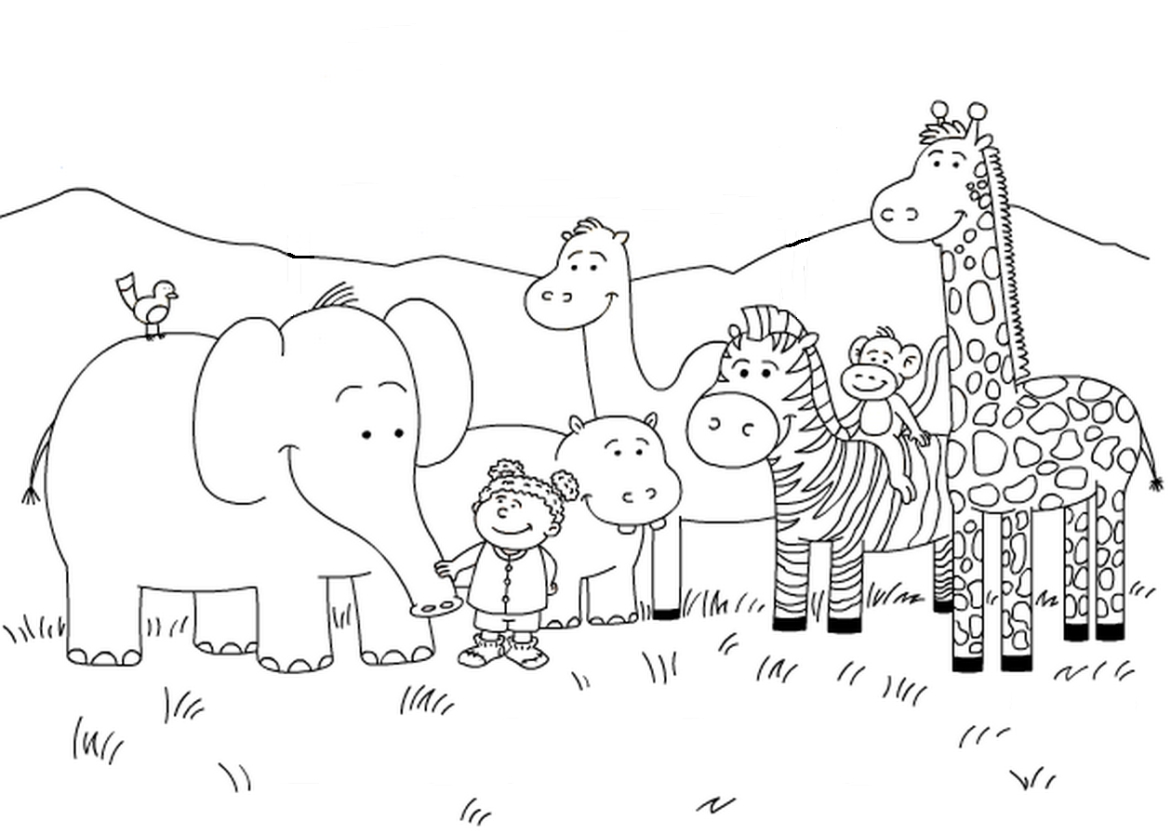 mal coloring pages - ausmalbild malvorlage zoo 1