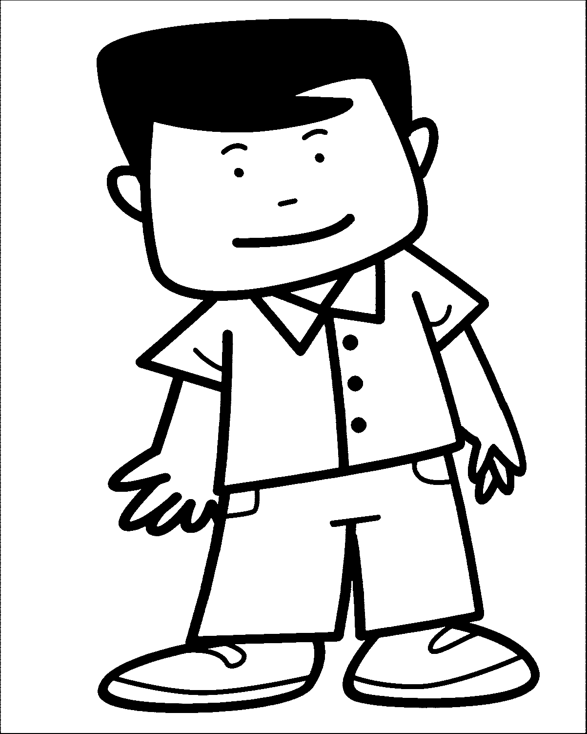man coloring pages - man coloring page