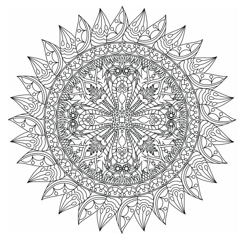 mandala coloring pages for adults - free mandala coloring pages