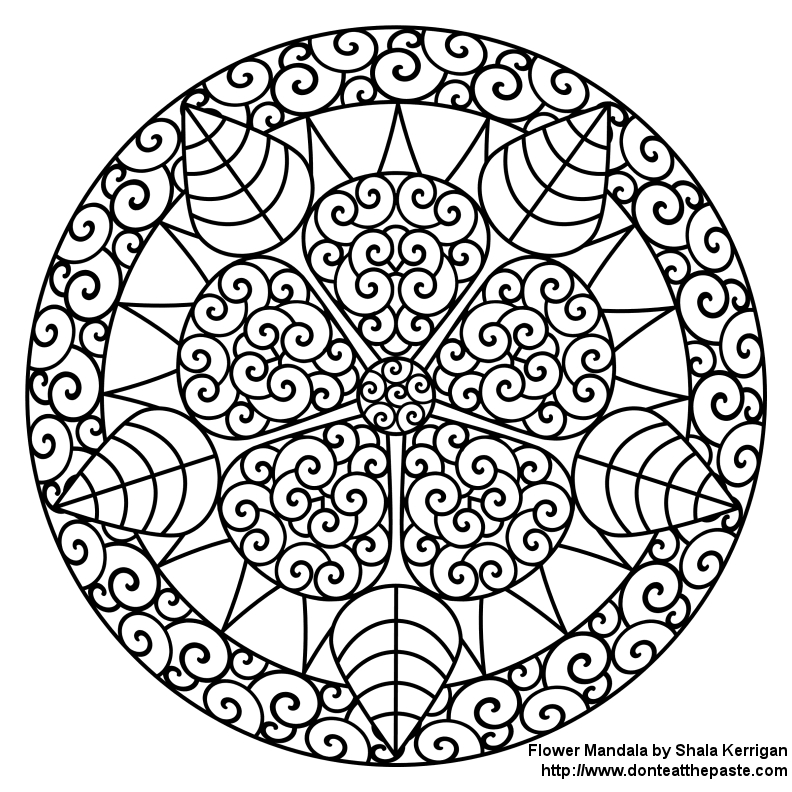 mandala coloring pages for adults - free mandala coloring pages for adults