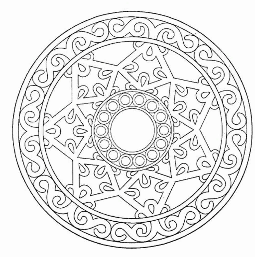 mandala coloring pages for adults - the mandala coloring book