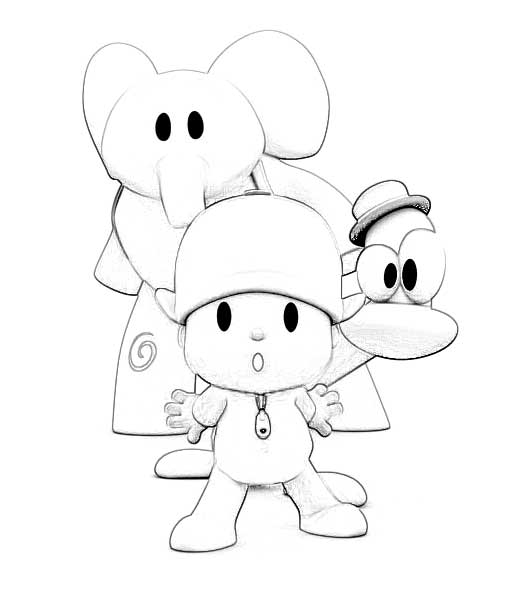 mandala coloring pages - pocoyo coloring pages