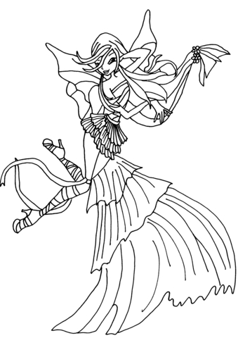 mandala coloring pages online - musa harmonix