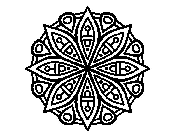 mandala coloring pages online - mandala for the concentration