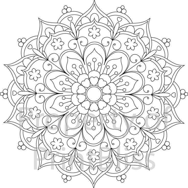 mandala coloring pages printable - mandala printable