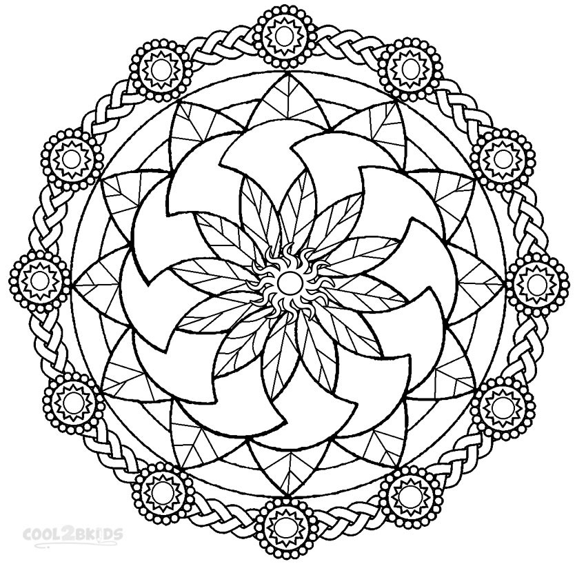 mandala coloring pages printable - q=heart mandalas