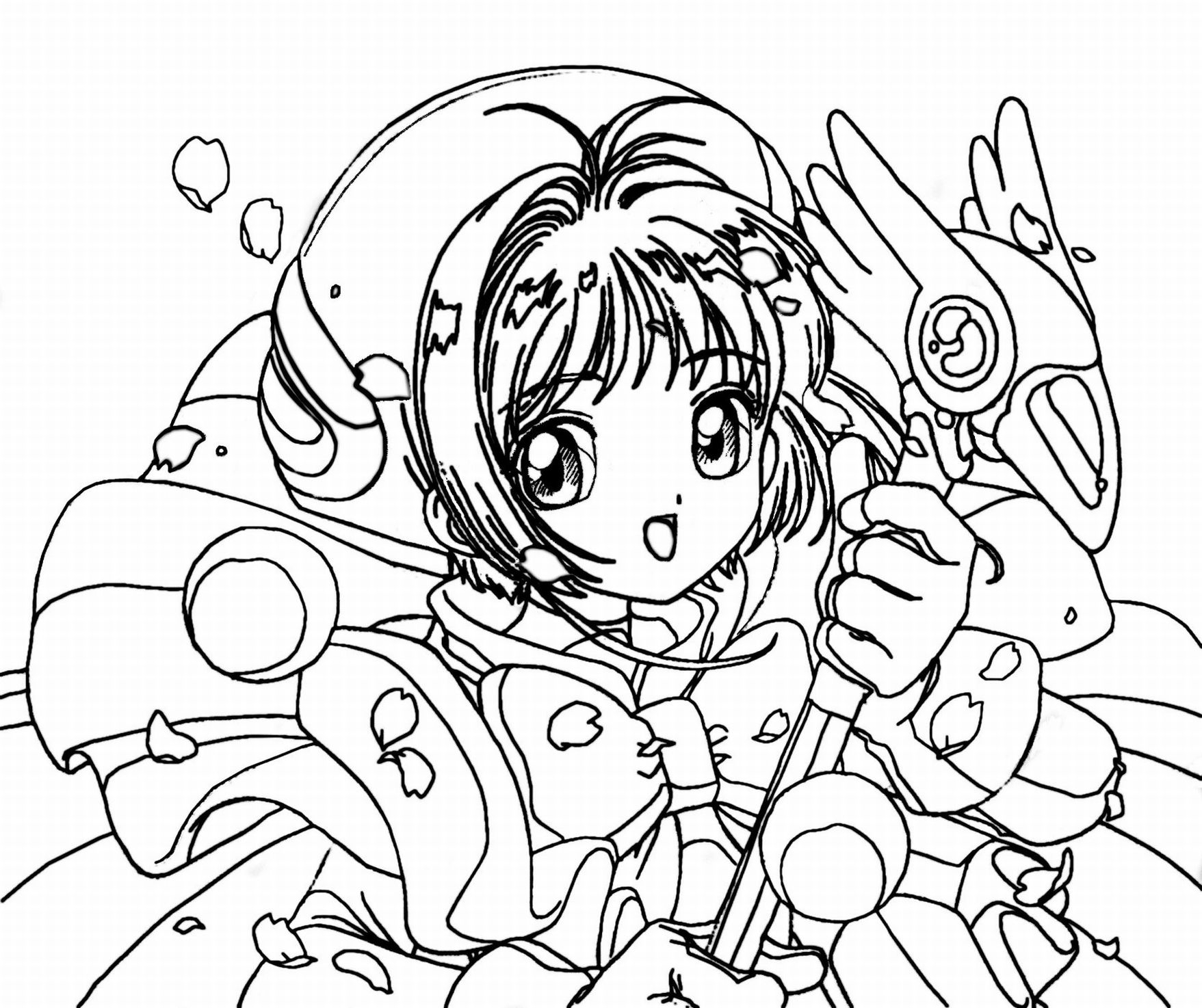 manga coloring pages - anime coloring pages for adults