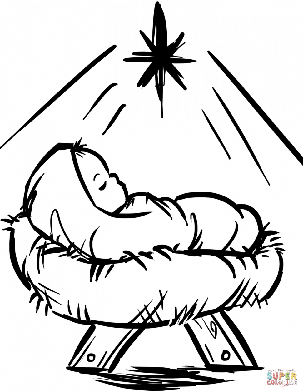 manger coloring page - extraordinary manger coloring page pages