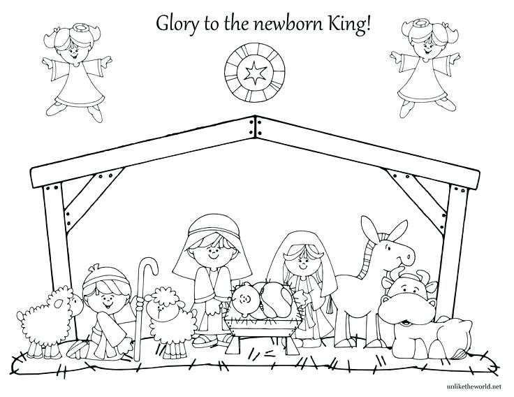 24 Manger Coloring Page Collections | FREE COLORING PAGES - Part 3