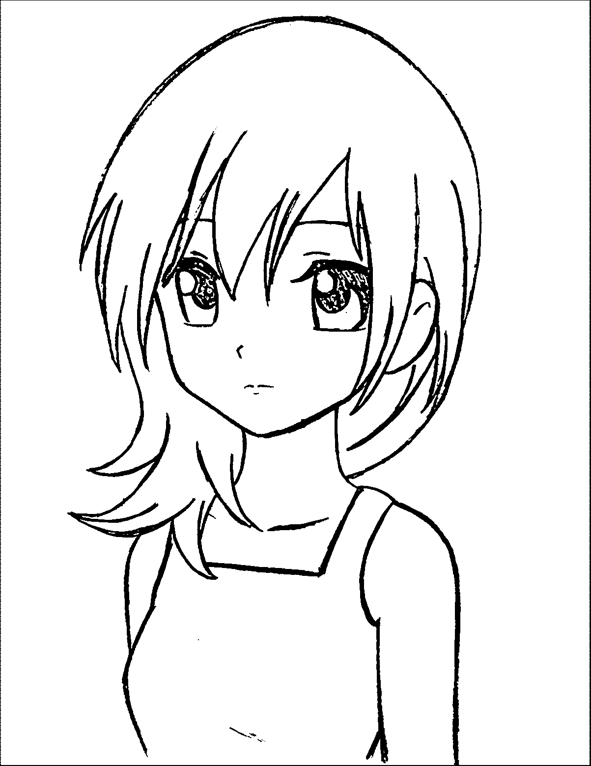 manger coloring page - manga coloring pages