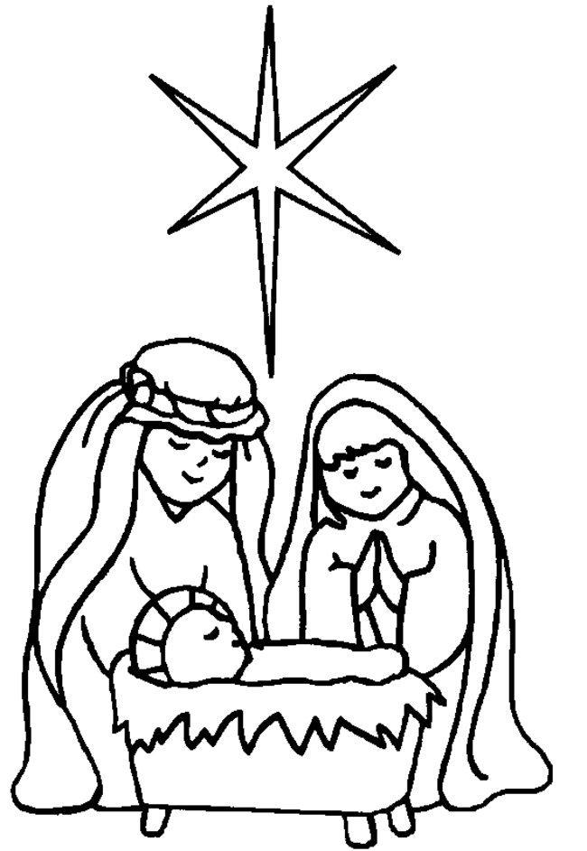 manger coloring page - nativity coloring pages 2