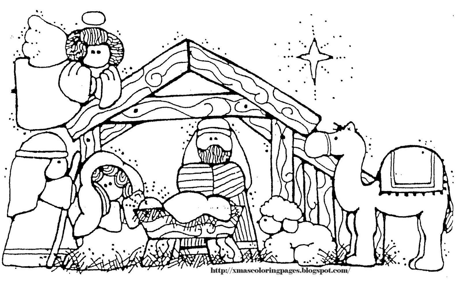 24 Manger Coloring Page Collections