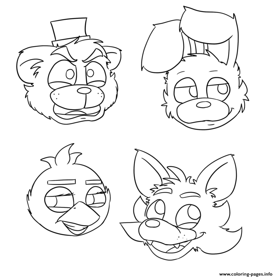 mangle coloring pages - fnaf bonnie foxy mangle printable coloring pages book