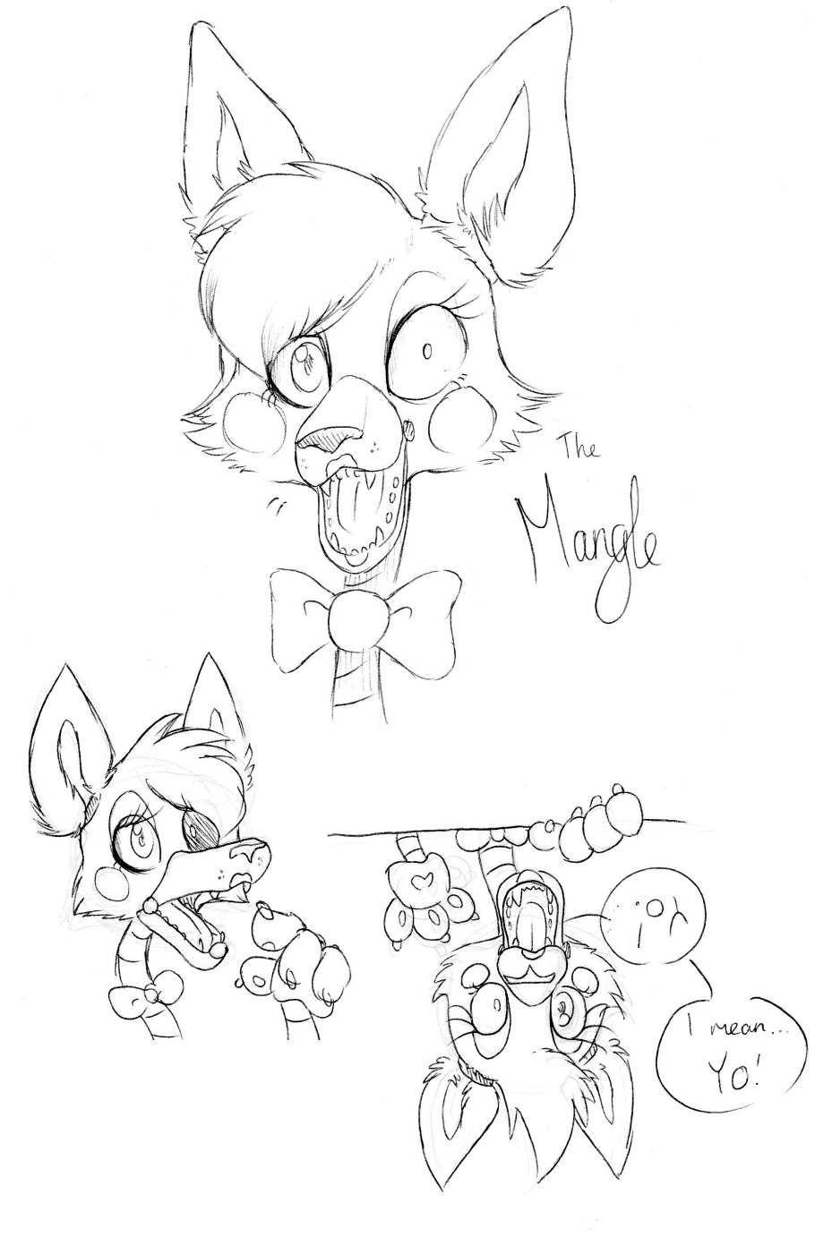 mangle coloring pages - mangle