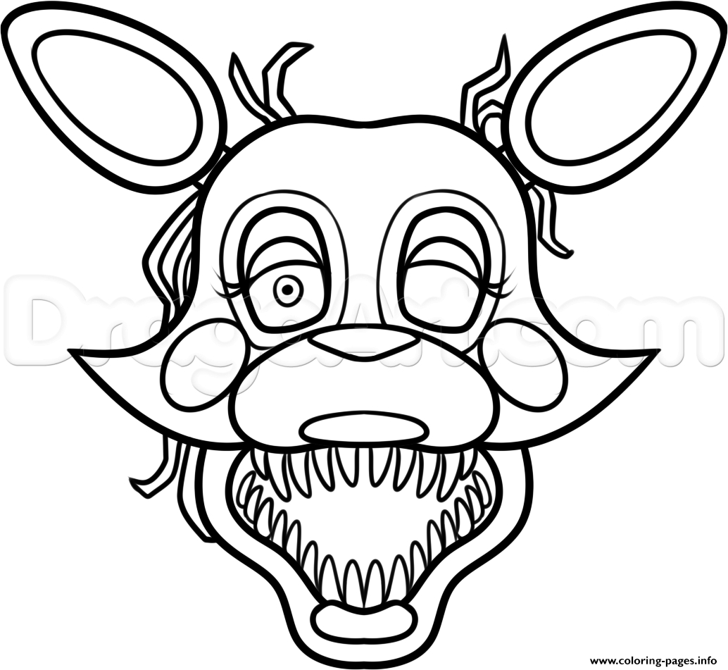 mangle coloring pages - mangle from five nights at freddys 2 fnaf printable coloring pages book