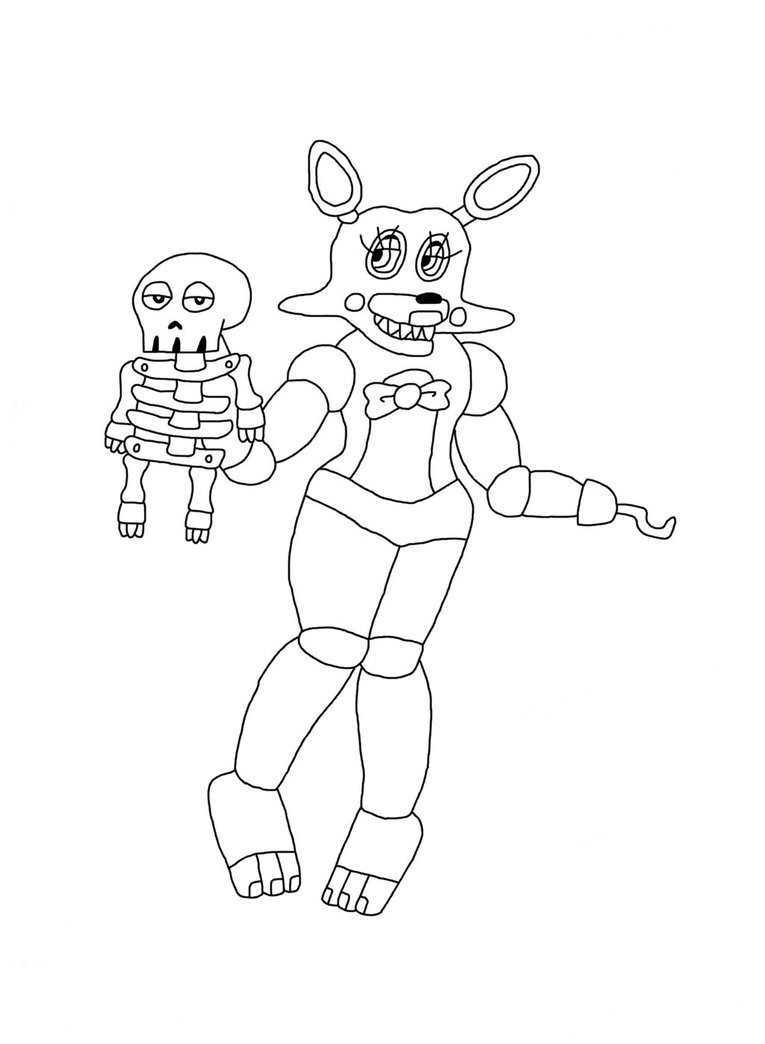 mangle coloring pages - toy mangle