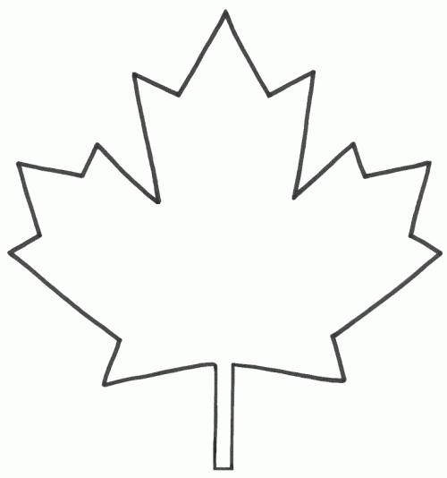 Maple Leaf Coloring Page - Coloring Pages Of Maple Leaf