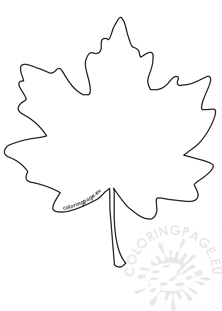 20 Maple Leaf Coloring Page Printable