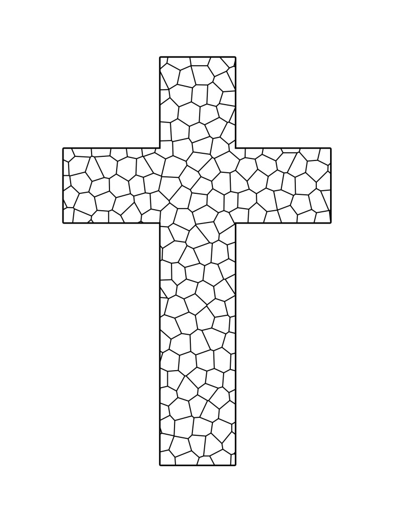 march coloring pages - coloring page of a cross printable cross coloring pages coloring me