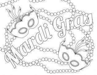 20 Mardi Gras Coloring Pages Collections | FREE COLORING ...