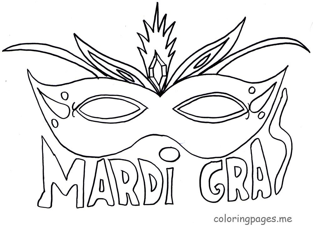 mardi gras coloring pages - beautiful mardi gras mask printable coloring pages sketch templates