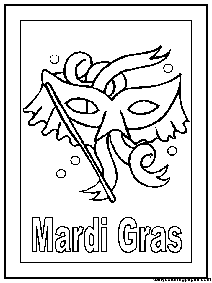 mardi gras coloring pages - free mardi gras coloring pages