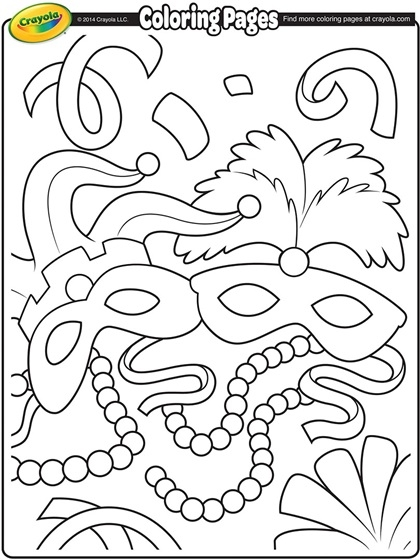 mardi gras coloring pages - mardi gras masks coloring page