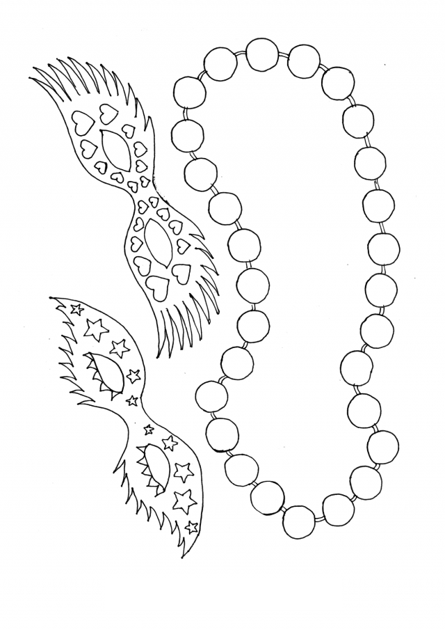 20 Mardi Gras Coloring Pages Collections | FREE COLORING PAGES