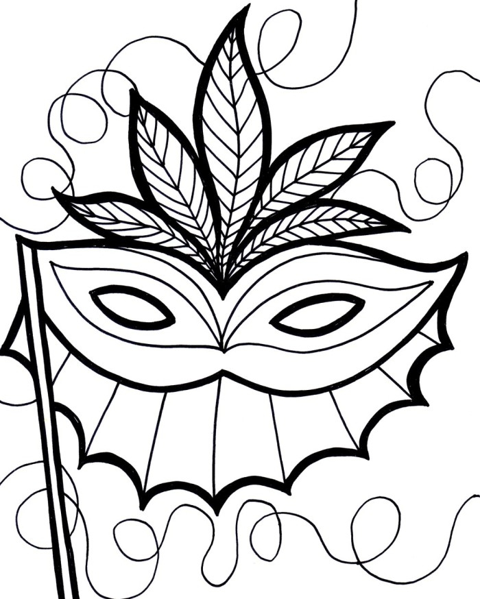 mardi gras mask coloring page - mardi gras masks images