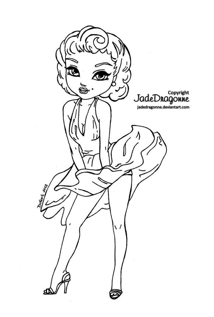 marilyn monroe coloring pages - marilyn monroe coloring easy sketch templates