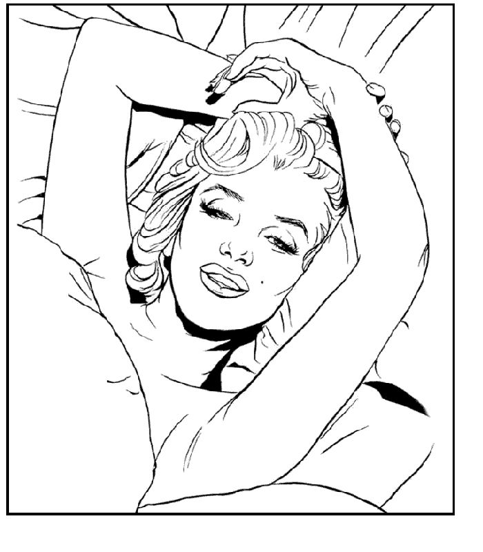 marilyn monroe coloring pages - marilyn monroe line drawing coloring sketch templates