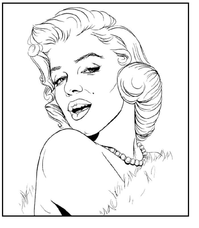 marilyn monroe coloring pages -