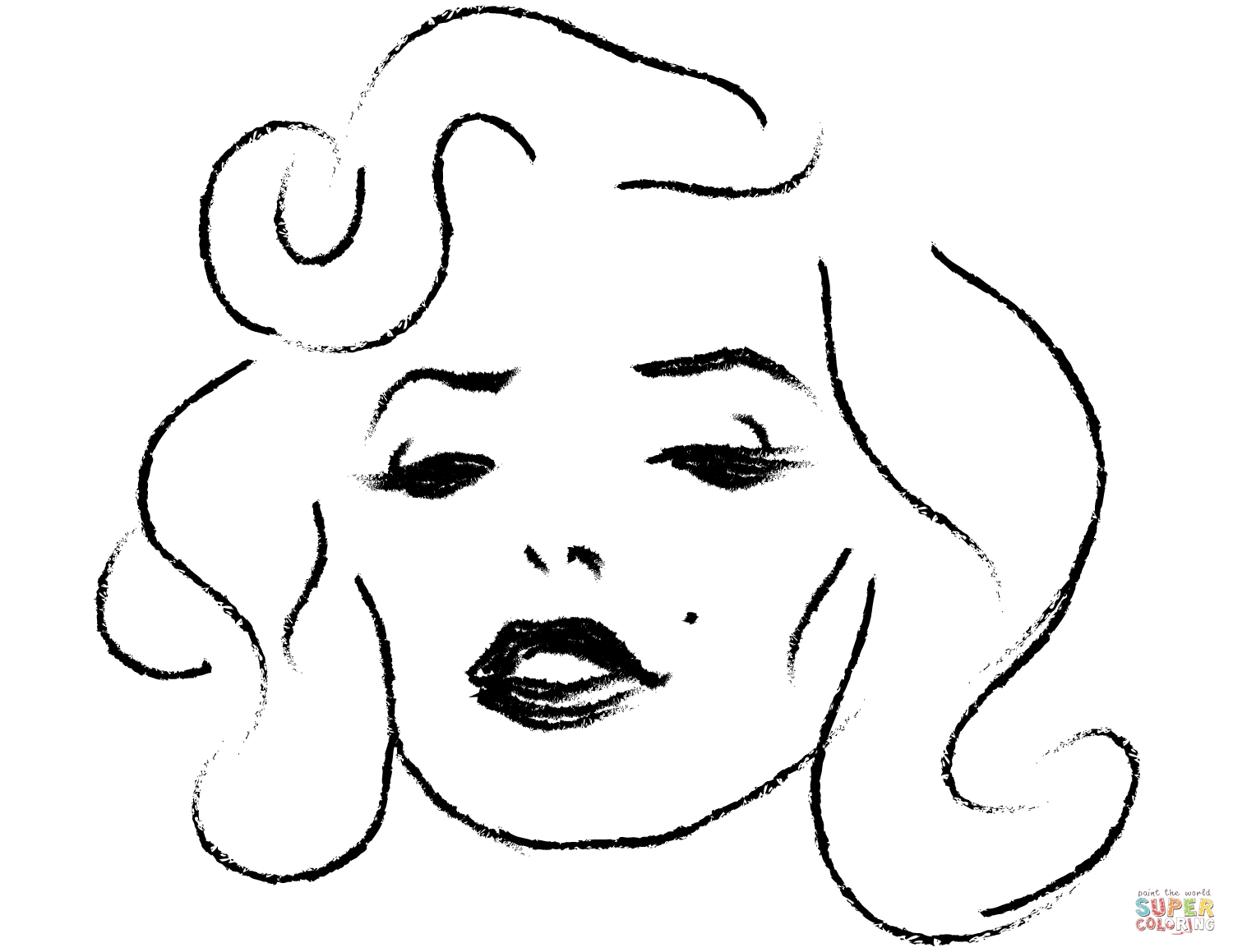marilyn monroe coloring pages - marilyn monroe portrait